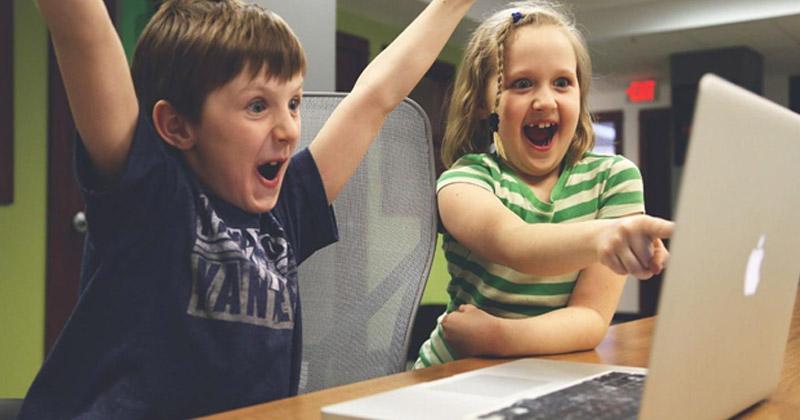 ordenadores y niños