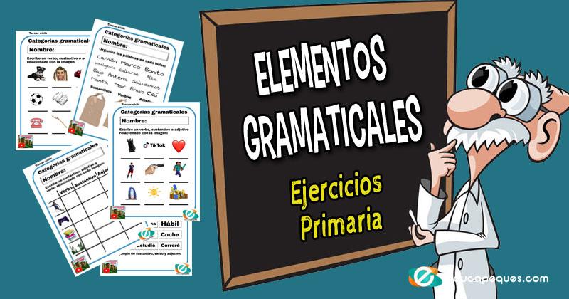 elementos gramaticales, categorías