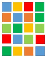 tablero de colores, atención sostenida