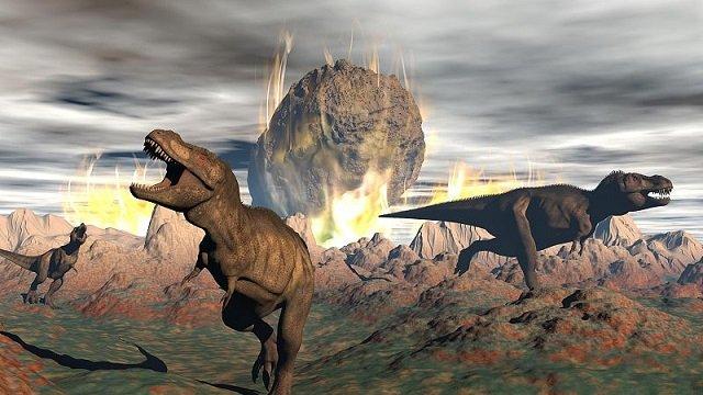 Desaparición de los dinosaurios por el impacto de un asteroide