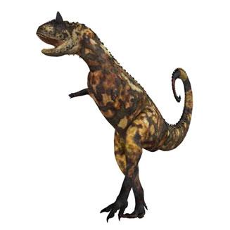 Dinosaurios con cuernos en la nariz y en los ojos: Carnotaurus