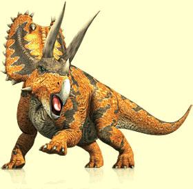 Dinosaurios con cuernos en la cabeza; Pentaceratops