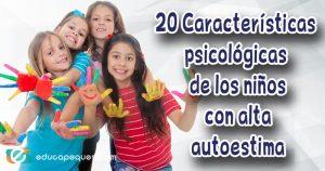 niños con alta autoestima